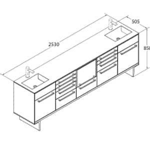 VELA 5 Modules 2 Sinks Drawing