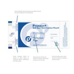 Protect+ Self-Seal Sterilisation Pouches 59mm x 127mm Box of 200 Sold in Case of 10 Units part of Infection Control Category